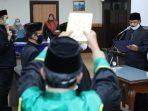 Dengan menerapkan Physical Distancing, Wali Kota Maidi melantik 7 pejabat fungsional.