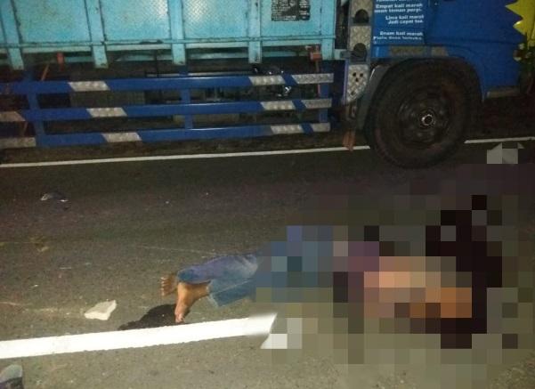 Karena menabrak Tong, warga Slahung ini meninggal dunia, Sabtu (30/05/2020). (Foto - Polres Ponorogo)