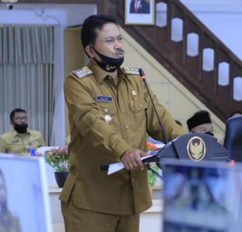 Wali Kota Maidi saat menghadiri sidang Paripurna DPRD Kota Madiun