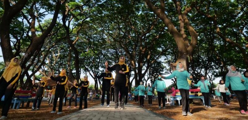 Perwosi Kota Madiun aktif melakuka kegiatan senam