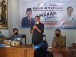 Ibnu Multazzam saat memberikan sambutan dalam Safari Gemarikan di Desa Karangpatihan Kecamatan Balong Ponorogo