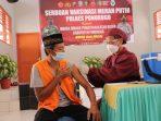 Warga Binaan Lembaga Pemasyarakatan Kelas II B Ponorogo disuntik Vaksin Sinovack