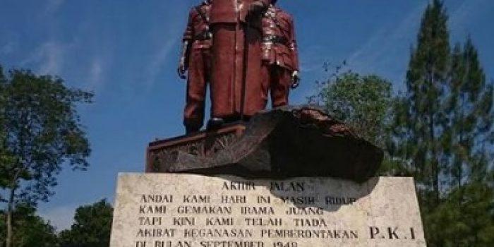 Monumen Gubernur Ario Suryo di Ngawi menjadi pertanda kekejaman PKI tahun 1948